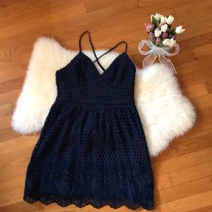 Abercrombie & Fitch Dresses - A&F navy eyelet dress